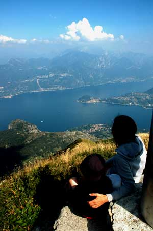 View from Crocione of Lake Como
