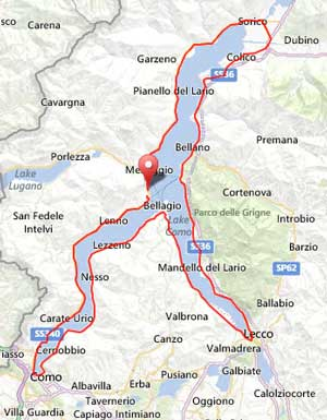Cycling around Lake Como