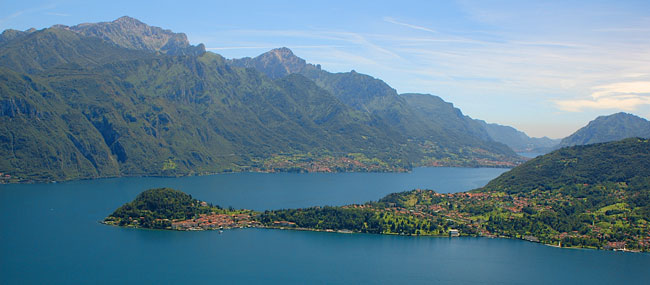 View of the Grigna Mountain from West side of Lake Como