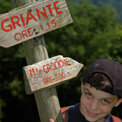 Sign pointing the way to Griante